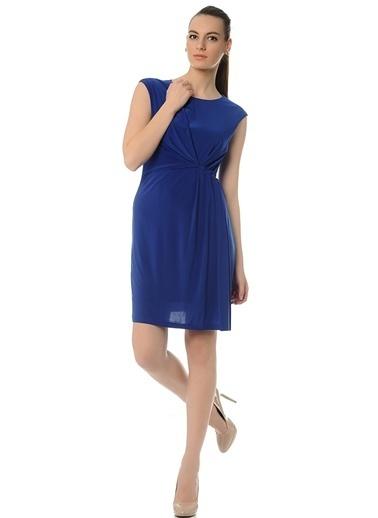 Cotton Bar Kolsuz Şifon Elbise Saks